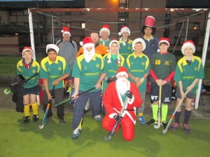Stafford Fathom Santa Hat Team on Saturday 14th. December 2013 v Whitchurch Fathoms - Lost 3-0